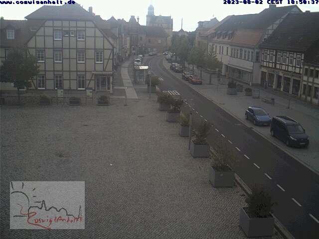 Blick auf den Coswiger Marktplatz